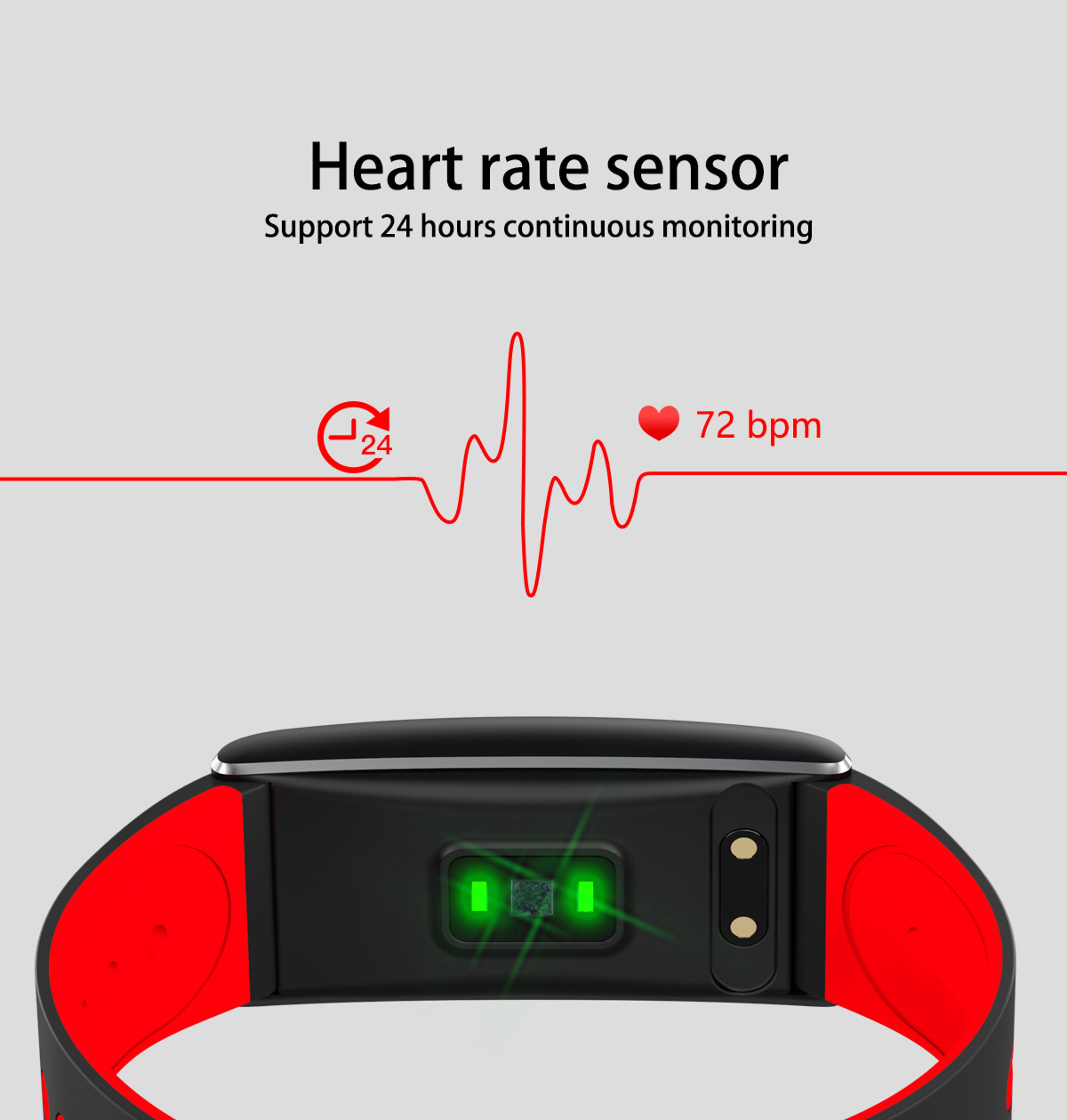 ORDRO S11 smart bracelet heart rate monitor pedometer sleep monitor Android IOS smart watch