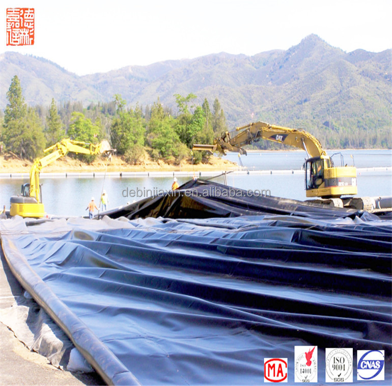 2 mm Non-toxic Folding Waterproof HDPE Black Rolls Geomembrane Price