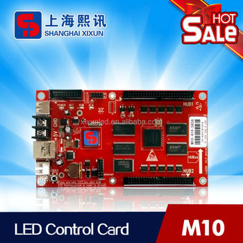Single/Dual color LED asynchronous controller for led display screen and has USB port