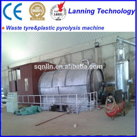 Pakistan 10 tons scrap tyre waste oil refining machine