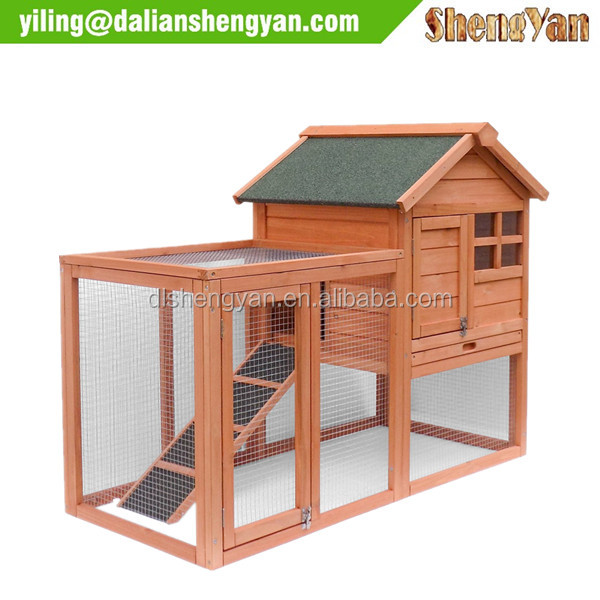 China Wholesale Wood Pet House Rabbit Hutch