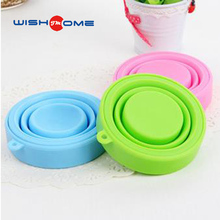 JianMei brand silicone water cup Best Seling custom Portable Folding Silicone wash cup