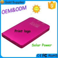 Mini aluminum solar mobile power bank solar charger