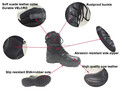urban force shock resistant flexible military response tactical boots for policeman