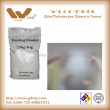 Water based frosting powder(non hand print) for high quality required glass doors
