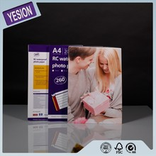 Yesion Best Quality Wholesale Resin Coated Glossy Photo Paper A4 260gsm Professional Color RC Glossy Photo Paper 4x6