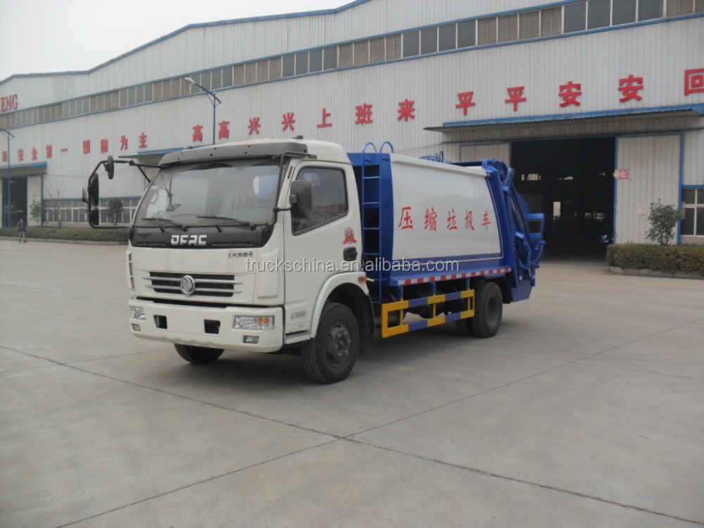 Dongfeng left hand drive 4x2 Diesel engine 7 m3 Small Garbage Truck