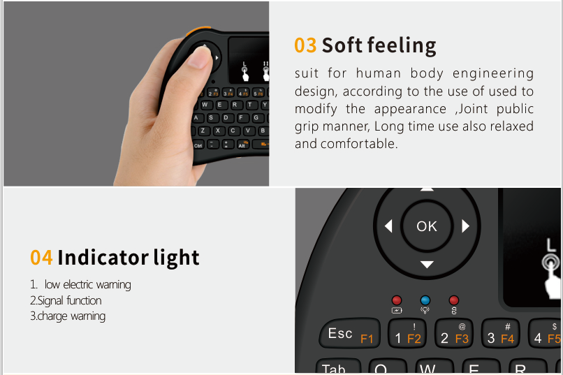 2.4ghz air mouse wireless keyboard I9 mini for Android TV Box Built-in lithium-ion battery