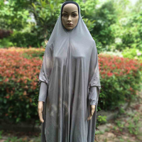 Fashion simple basic dubai Clothing wear Women Islamic muslim spandex abaya