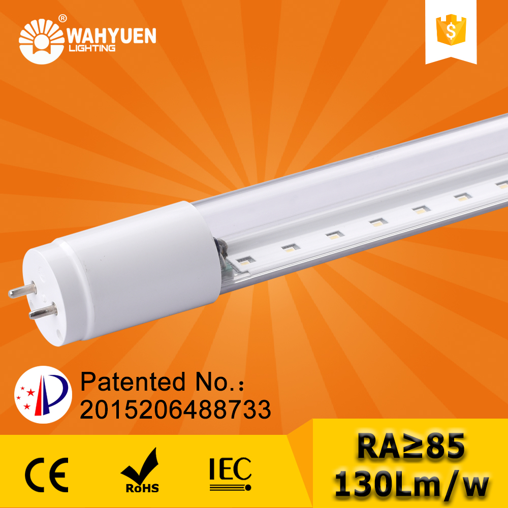 free sample 130 lux 18w PC converter in light tube with ce rohs iec t8 led tube light
