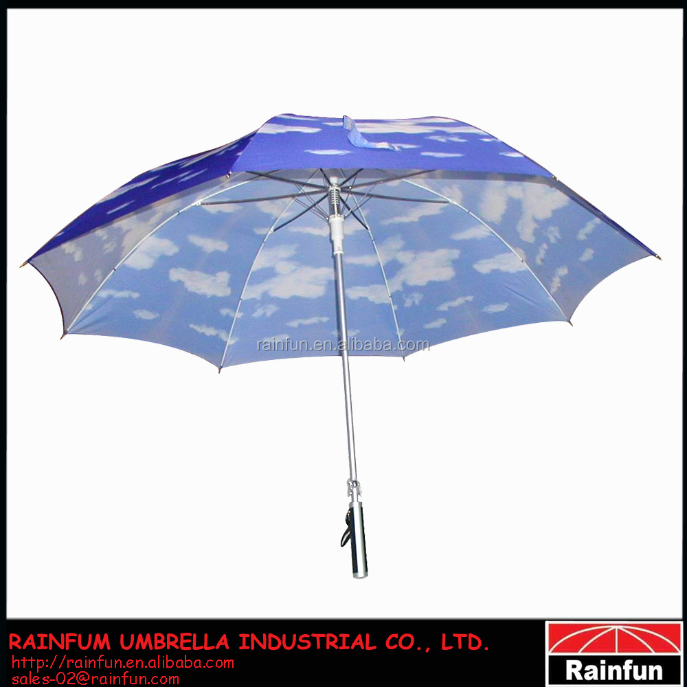 Big Golf Heat-Transfer Printing Umbrella Blue Sky