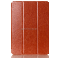 Hot Selling! Book Style Slim PU Leather Crazy Horse Flip Case Cover For ipad Air 2 Stand Deluxe