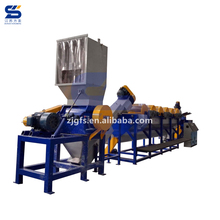 FANGSHENG PET bottle crush and wash line recycling machine making PET flakes