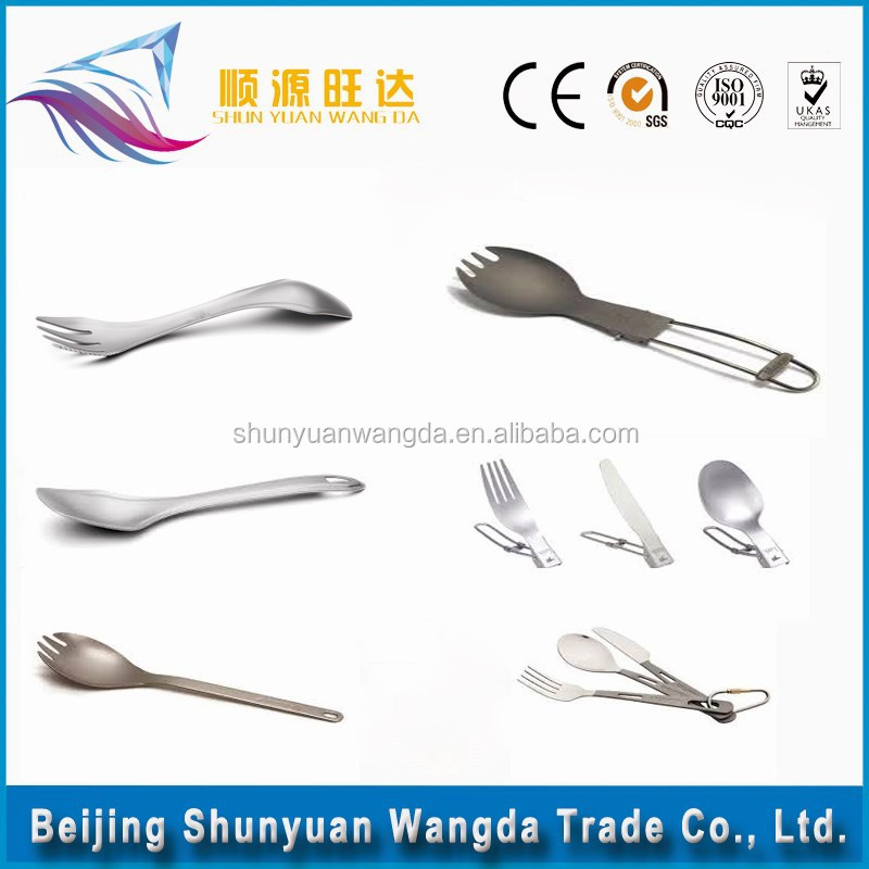 popular Titanium Spork,titanium spoon,metal spork flatware