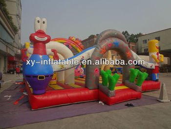 Big inflatable amusement park/giant inflatable fun city for sale