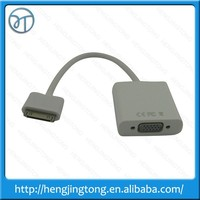 High quality 30pin Dock Connector to VGA Cable Adapter Video Converter for Apple iPad 2 3 iPhone 4S 4 iPod Touch