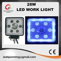 28W led spot work light with halo for truck use