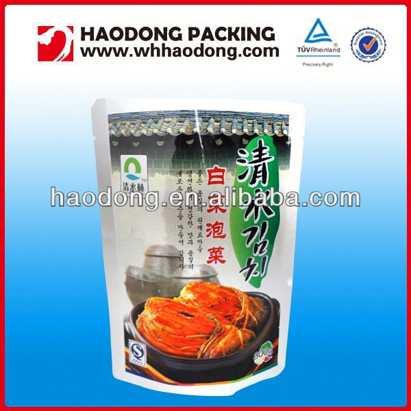 Food grade plastic packaging crepes food packaging