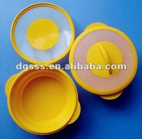 Folding Color Mixture Silicone Microwave Steamer with Lid