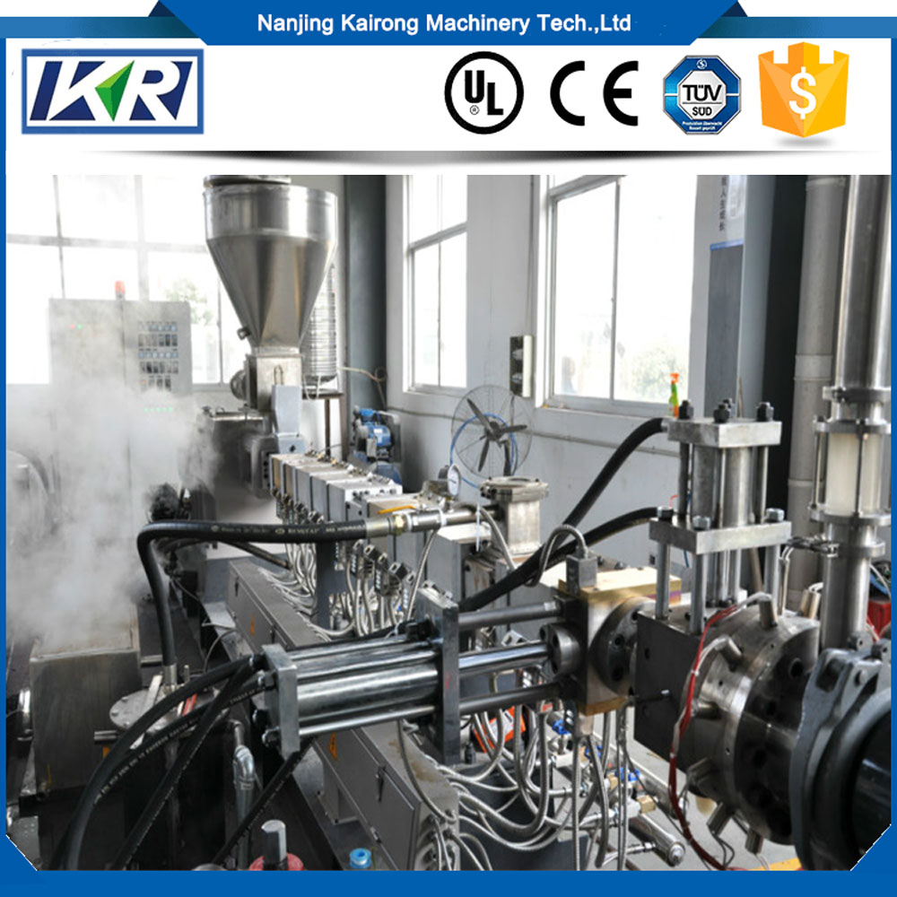 Conical twin screw extruder machine/Plastic PVC Granules Ceiling Panel Production Line