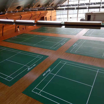 Indoor Outdoor Badminton Court PVC Vinyl Flooring View badminton