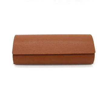Hot vintage sunglasses packaging case pu leather sunglasses cases semi-hard glasses pouch