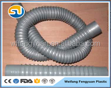 bellow pipe Plastic PVC Flexible Electrical Conduit Hose Perforated Corrugated Pipe