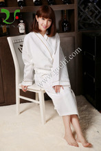 100 cotton breathable waffle bathrobe
