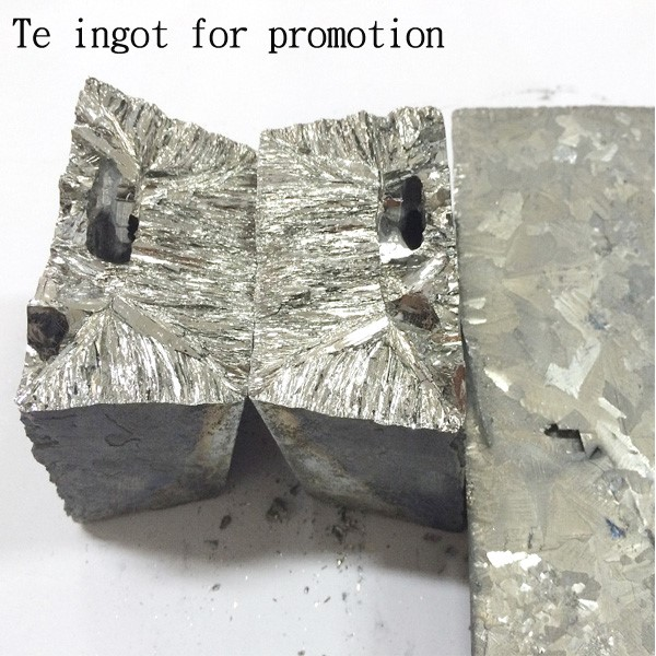 China supplier pure te tellurium metal/ ingot price
