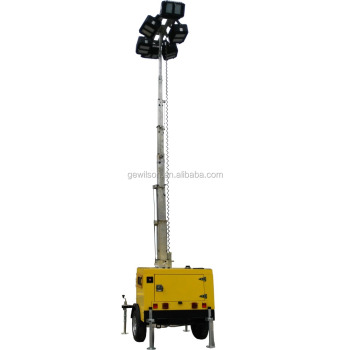 Portable Lighting Tower for Construction