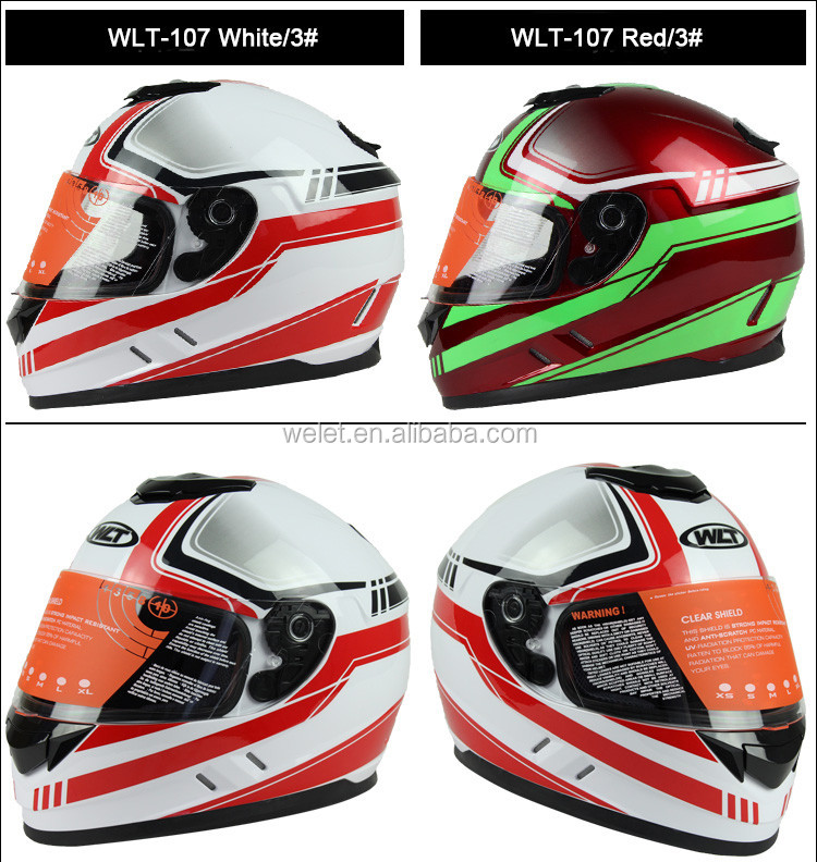 Fancy motorcycle full face helmets for sale