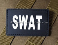 PVC SWAT military tactical patch with welcro back