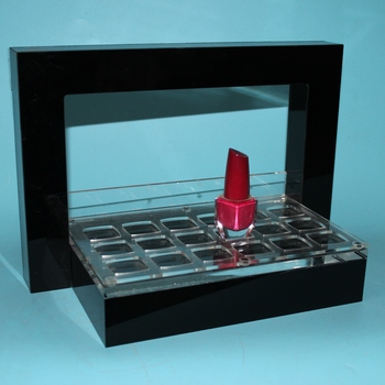 Customized Black Acrylic Eyeshadow Display Rack