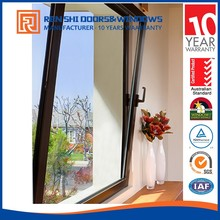 hurricane-resistant doors and windows Tempered safety glass aluminum tilt and turn hinge window