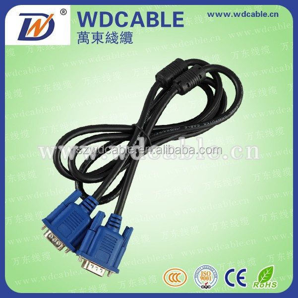 Professional manufacture DVI VGA Male to Male Monitor Cables for Computer
