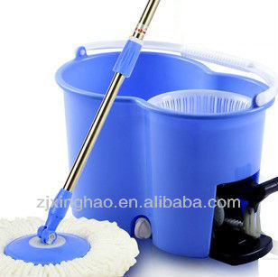 Sobam Clean and Away Dusting Mop 360 degree easy cleaning magic mop Balai + seau Easy Wring And Clean - Set Complet