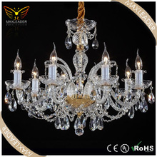 classic glass lighting crystal E27 candle chandelier