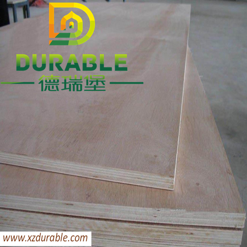 Durable red eucalyptus face and back BB/CC grade E2 glue poplar or hardwood core plywood for furniture making