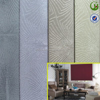 100 polyester jacquard blackout fabric for curtain roman blind with waterproof