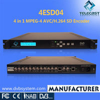 Cost-effective 4 in 1 SD AVC/H.264 IPTV MPEG4 Encoder
