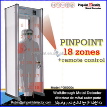 newly high performance intelligent Security Door frame metal detector with 18 independiente zone