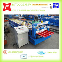 Botou Trapezoidal Profile Metal Roof Wall Panel Cold Roll Forming Machine roll former