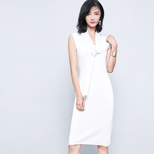B20945A korea new fashion Ladies Slim sleeveless knit dress