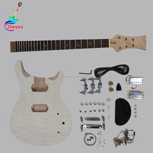 wholesaler high quality unfinished diy electric guitar kit