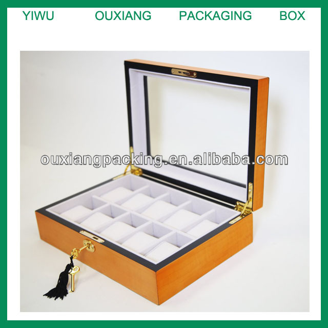 Acrylic Transparent Wooden Watch Collection Box