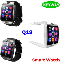 New Fashion Q18 Bluetooth Smart Watch NFC Smart Wristband Support SIM Card Built-in Camera Smartwatch For IOS Android Phone