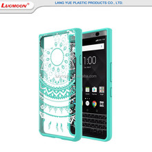 Hot Selling Acrylic Mandala Flower Printing Cover Case For Blackberry Keyone,Transparent PC+TPU Bumper Cover Case For Smartphone