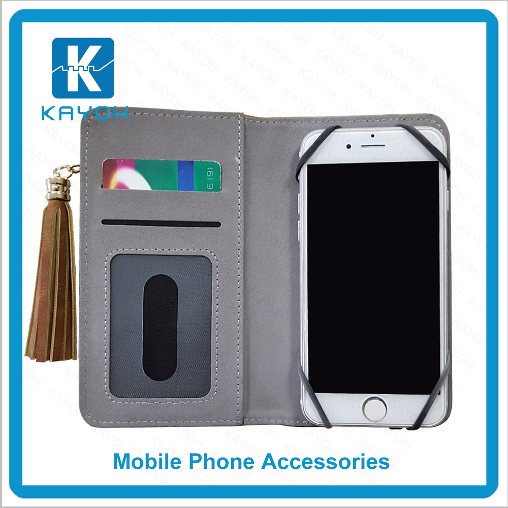 "[kayoh]Best selling special design case 5"" inch leather case Filp Wallet case for iphone/samsung/lg"