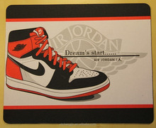 jordan 1 generation sneaker printed on the mouse pad for basketball fans