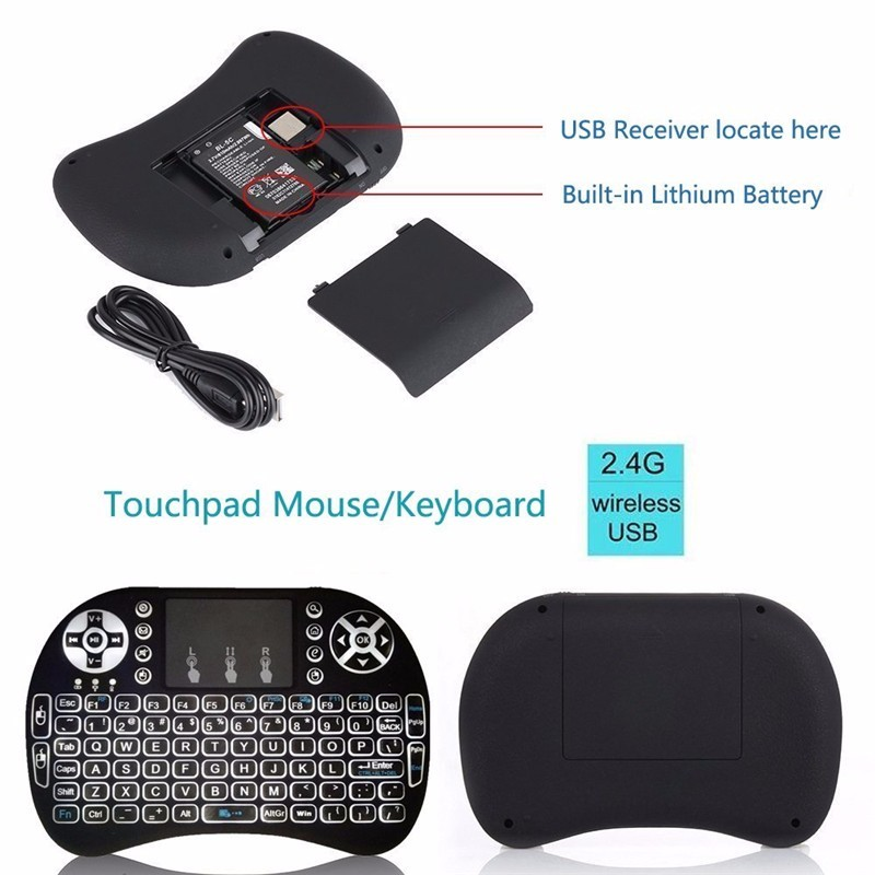 Best-selling I8 wireless air mouse 2.4ghz i8 backlit keyboard